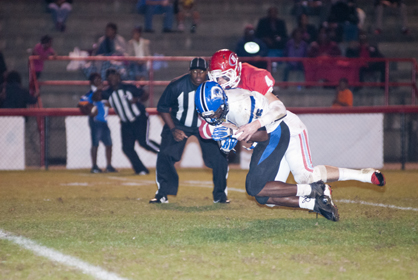 Senior runningback Roderick Davis at five touchdowns on the night, including two in overtime.