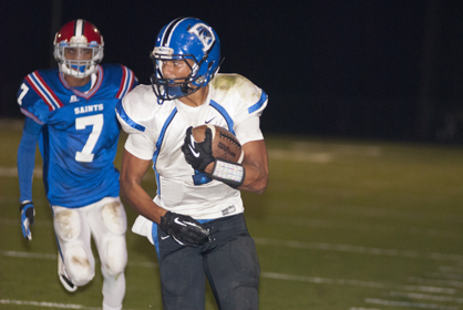 Demetrius Kemp had one of Demopolis' two interceptions. Bobby Taylor got the other one on the game's first play from scrimmage.