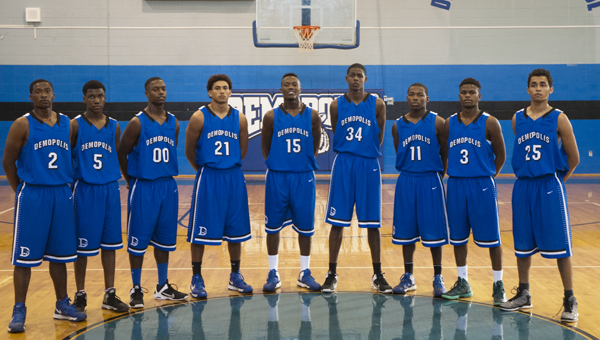 Shown are the members of the 2013-14 DHS boys basketball team. From left are Roderick Davis, Jeremy Hines, Tyler Perkins, Demetrius Kemp, Cortez Lewis, Charles Tripp, DJ Howell, Kiante Jefferies and Datrion Fultz. Not pictured are Tripp Perry and Sam Renner.