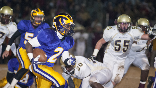 Jakoby Aldridge had rushing touchdowns of 12- and 5-yards against Washington County.