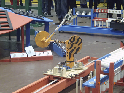 The DMS Robotics Team's robot from Saturday's competition.