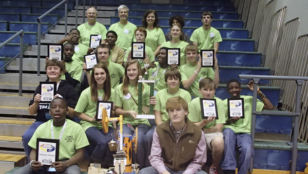 The Demopolis Middle School Robotics Team placed second overall in the BEST competition at Shelton State on Saturday.