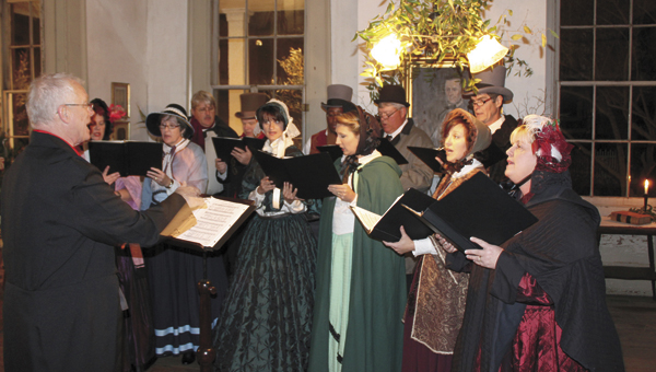 Dickens Carolers out of Thomasville will perform at Lyon Hall and Bluff Hall on the evening of Friday, Dec. 6.
