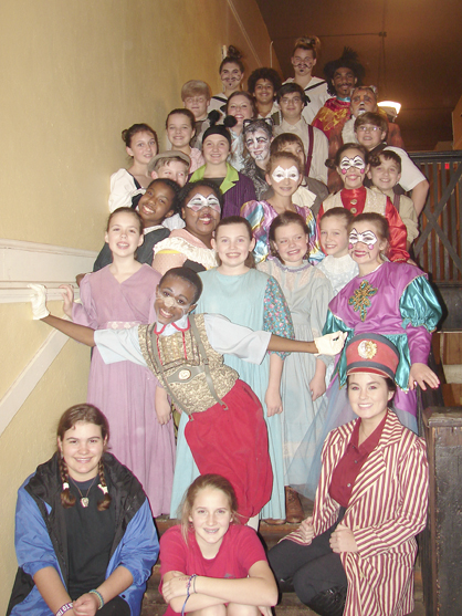 Shown is the cast of Pinocchio.