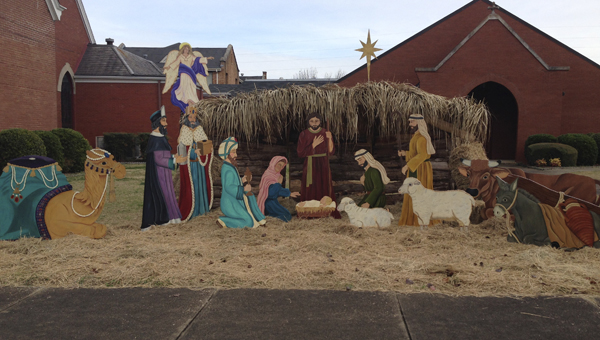 The Demopolis First United Methodist Church has a nativity scene on display outside their church. They will host children's plays on Sunday, Dec. 15 beginning at 6 p.m.