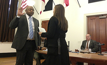 Nathan Hardy was sworn in as a Demopolis City Councilman in February following the resignation of Mitchell Congress for health concerns.