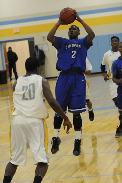 Roderick Davis takes a jump shot in Tuesday night's game against Selma.
