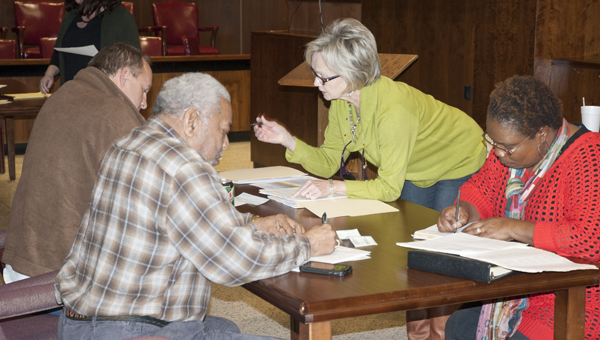 Incumbents Michael Thompson, left, and Freddie Armstead qualify for another terms on the Marengo County Commission.