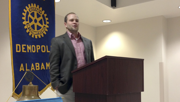 UWA head football coach Brett Gilliland visited the Demopolis Rotary Club on Wednesday to talk about his plans for the program.
