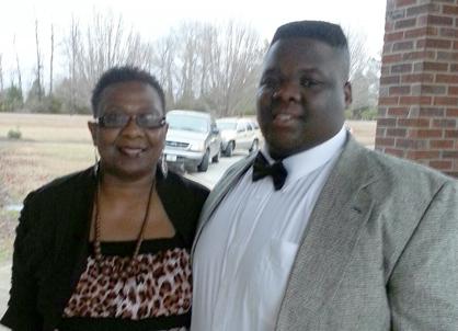 Hollis Bright with mom Ada Smith.