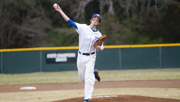 Tripp Perry started and got the win for Demopolis against Sweet Water on Monday night. He struck out seven and only allowed one run in five innings.