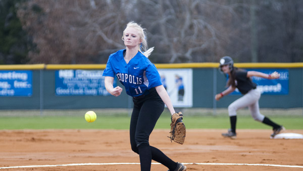 Hanna Malone pitched five scoreless innings for Demopolis in their win over Brookwood on Tuesday.