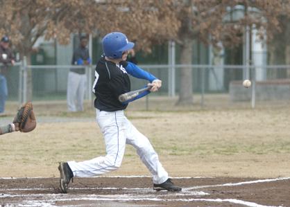 Seth Aiken takes a swing.
