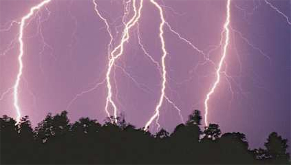 On average, three Alabamians die each year due to lightning strikes.