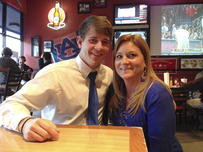 Peyton Pearson with his mom Linda Smith.
