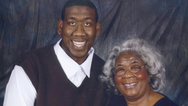 Sara Smith with her son, Christopher Micah Smith.