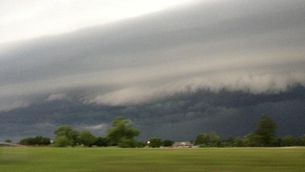 A thunderstorm builds along U.S. 80 between Demopolis and Cuba last summer.
