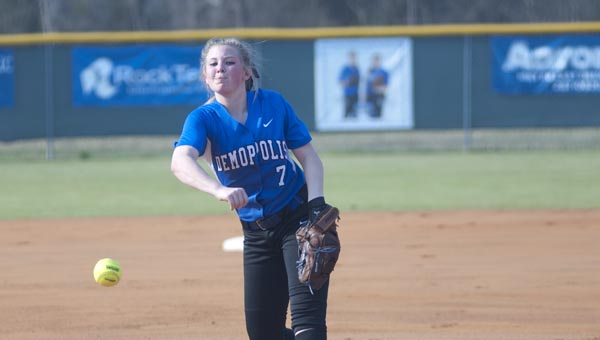 Kendall Hannah started Monday afternoon's game for Demopolis.
