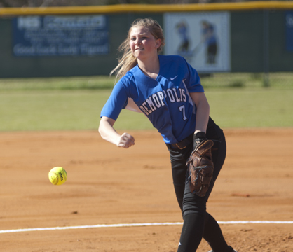Kendall Hannah pitched the first three innings for Demopolis.