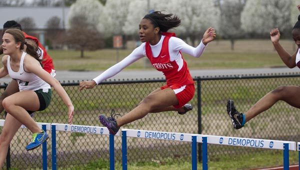 Kierra Phillips from Linden placed second in the girls 100-meter hurdles.