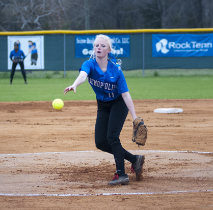 Hanna Malone started the game for Demopolis.