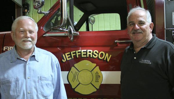 Jefferson Volunteer Fire Department Chief George Norris and Alabama Fire College Region 5 Service Coordinator Billy Roberts
