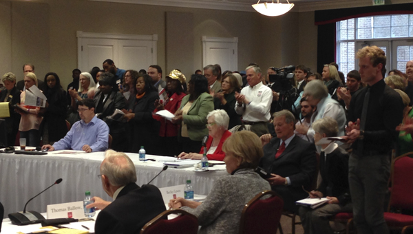 A large crowd showed up Monday to support UWA President Dr. Richard Holland.