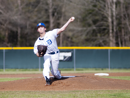 Adam Sellers pitched six innings for Demopolis on Tuesday, striking out 11 batters and only giving up one hit.