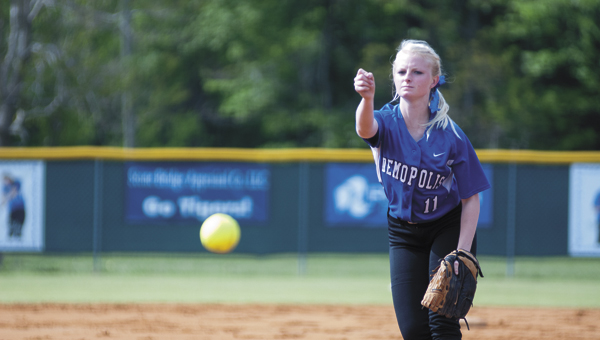 Hanna Malone started Tuesday's game for Demopolis and earned the win.