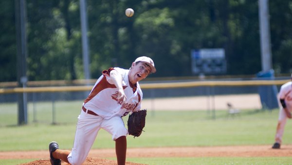 Kyle Friday started game one for Marengo Academy and pitched a complete game shutout.