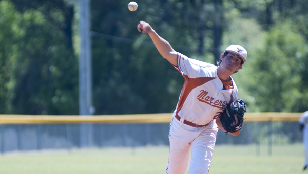 Micah Agee started for Marengo Academy and pitched five innings in the game.