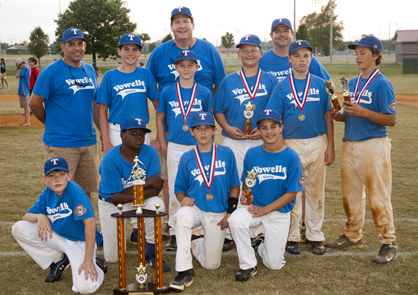 The Vowell's Rangers, Demopolis Youth Baseball League 12U Champions.