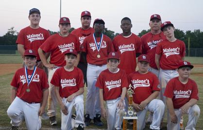 The Malone's Cardinals, Demopolis Youth Baseball League 12U runners-up.