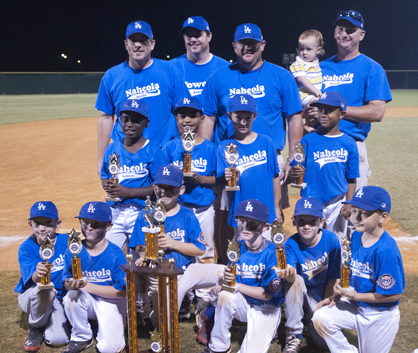 The Naheola Credit Union Dodgers won the Demopolis Youth Baseball League 8U championship.