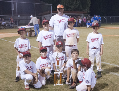The F&F Drugs Reds finished as runners-up in the Demopolis Youth Baseball League 8U championship.