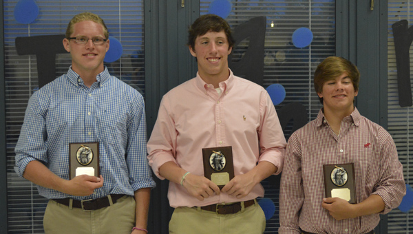 Michael Brooker, Tyler Oates and Matt Eicher were named permanent team captains for the 2014 Demopolis High School Tigers baseball team.