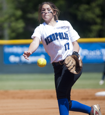 Natalie Tatum pitched a complete game shutout against Greenville on Friday.