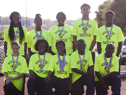 The Worldwide Track Club brought home 18 medals from the USA Track and Field Alabama Association Junior Olympics Championships at Birmingham Southern College.