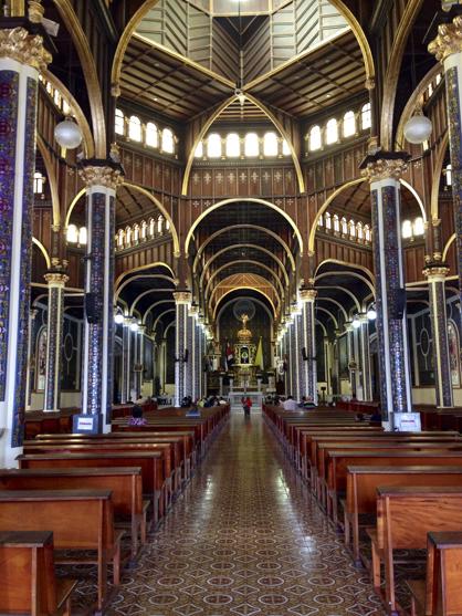 Santuario Nacional Nuestra Señora de Los Angeles (a national cathedral in the former Costa Rican capital of Cartago).