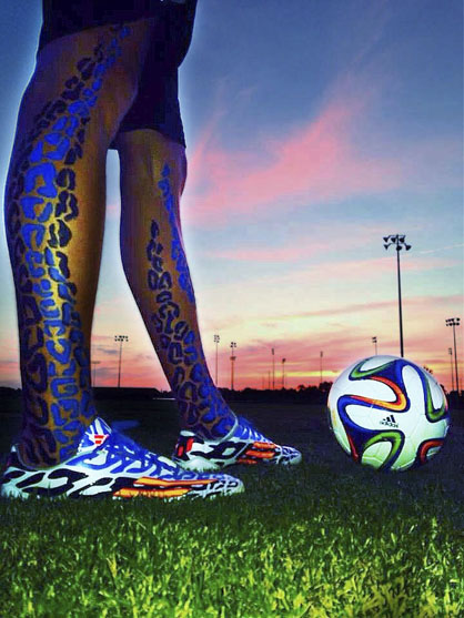 Adam Brooker won Soccer.com's #allin or nothing Battle Pack Photo Contest by submitting this photo.