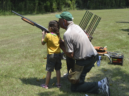 Campers were able to practice skeet shooting.