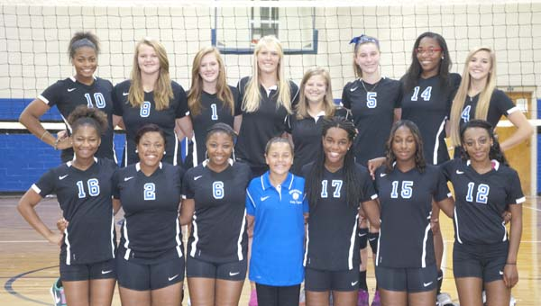 The members of the 2014 Demopolis High School Lady Tigers are Jade Montgomery, Madelyn Brooker, Katie Marques, Napoleon Roberson, Ann Taylor Wood, Ebony Moore, Brittany Mosley, Kanigia Pelt, Ivery Moore, Alex Barnett, Krissany Purnell and Semetriss Wright. They are coached by Angela Sanders and Julie Massey and managed by Alyssa Martinez.