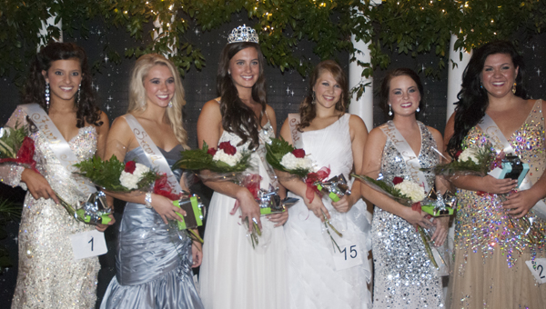 Shown is the 2013 Miss COTR Court: (from left) Camilla Tutt, fourth alternate; Mary Howerton, second alternate; Miss COTR Mary Frances Webb; Anna Devon Taylor, first alternate; Katelyn Elizabeth Beshears, third alternate; and Sydney Lane Standridge, Miss Congeniality.