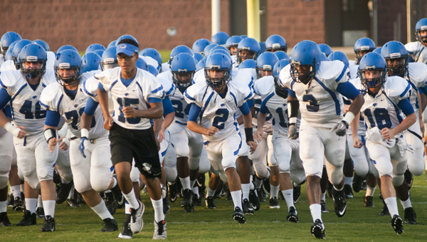 The Demopolis Tigers take the field for the first time in 2014.