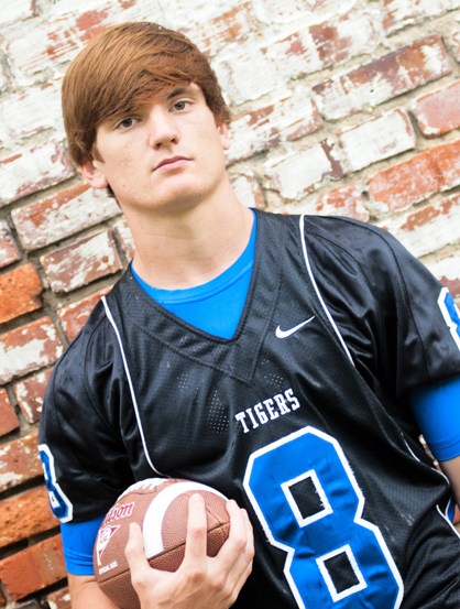 Senior Tripp Perry will start at quarterback for the Tigers this season.