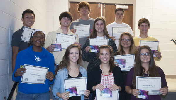 Demopolis High School students that qualified on AP exams in the spring were recognized during a ceremony Friday morning.