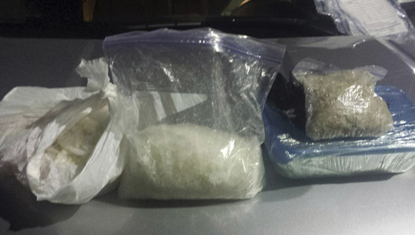 The 17th Judicial Drug Task Force seized eight pounds of crystal meth on I-20/59 in Greene County on Thursday.