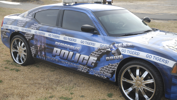The Demopolis Police Department put a wrap on a patrol car that will now be used by DPD School Resource Officer Marcus Williams.