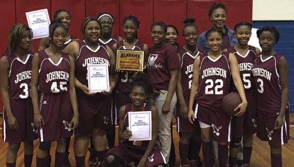 The A.L. Johnson Lady Eagles defeated the Linden Lady Patriots 60-58 Thursday night to win the AHSAA Class 1A, Area 4 tournament.