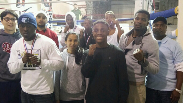 Shown are the members of the Demopolis Boxing Club who competed on Saturday, March 28, in Crossville, Tenn.  Back row, from left, are Arnold Rogers, coach Anthony Kemp Jr., Dequan Jackson, Jekerean Tate, Jaylin Evans and coach Walter Charleston; and front row are Terrance Charleston, Anastacia Rogers, Curtis Johnson and Robbie Gray. Not pictured is Natasha Carter.